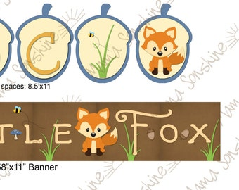 Little Fox Party Banners