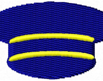 Pilot Hat Mini Embroidery Design