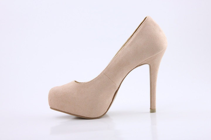 Nude Wedding Shoes Bridal Natural Beige