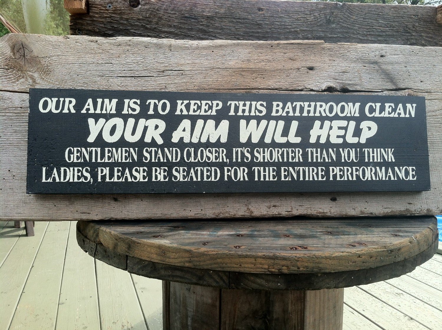 Bathroom sign for home -  Zoom