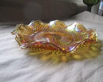 Vintage Marigold Carnival Plate
