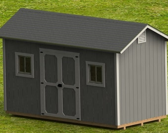 8' x 16' Garden Shed Building Plans - Digital Download