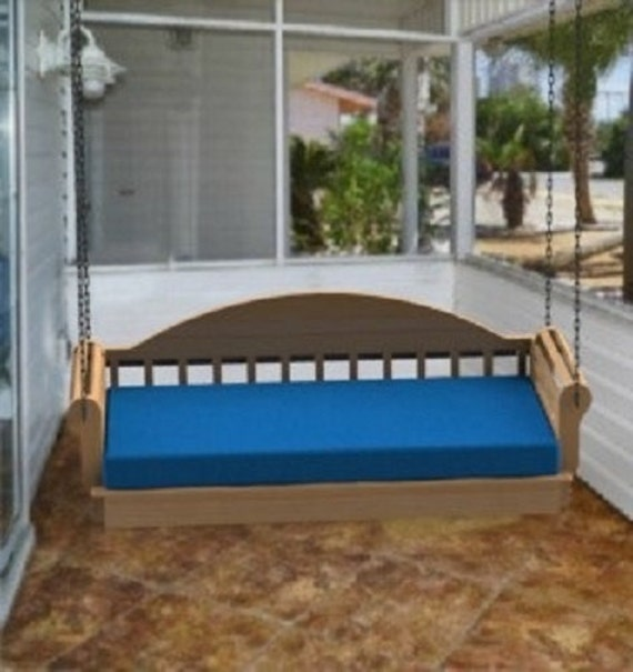 Hanging porch bed woodworking plans for Suspended bed plans