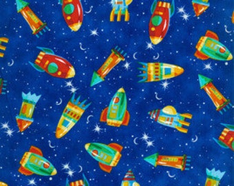 Popular items for rocket fabric on etsy for Rocket fabric