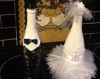 Wedding Gifs/Bride And Groom Unique Non Alcohol Chanpagne Bottles/Bride gift/Groom Gift