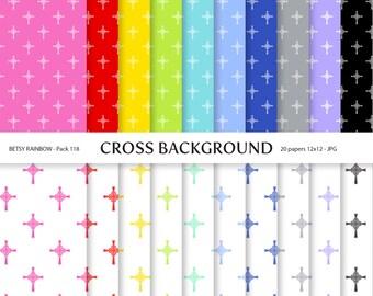 Cross Digital Paper Pack, 20 digital papers - BR 118
