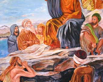 "By Th Sea of Galilee', Size : 40"" x 50"""