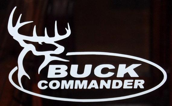 buck commander vinyl decal window hunting sticker pick color