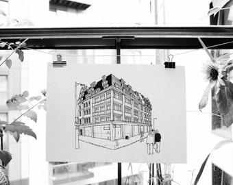 Corner II Print : London