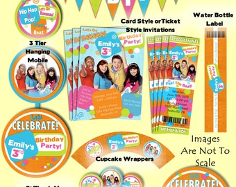 Fresh Beat Band Party Package with Invitation . Printable and customized with your personal party details. Digital files.