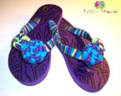 Girls Flip Flops Purple love - Lillysworldfashion