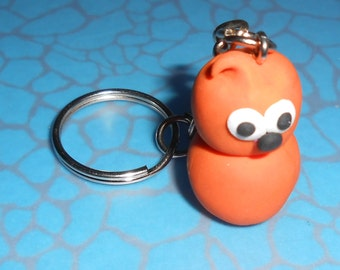 Hand Made Inspired By EDF energy flame Polymer Clay ZINGY Keyring or keychain
