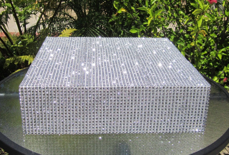 24 Square Wedding Cake Stand Riser Rhinestone Diamond