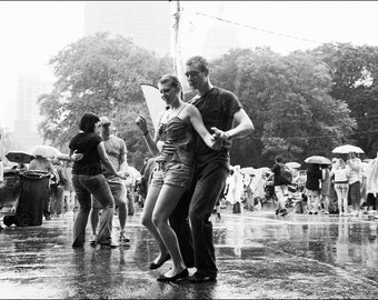 Dancing in the Rain - Black and White Photo Print - Art Photography (MP05)