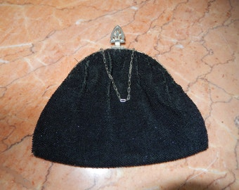 Black Beaded Evening Purse