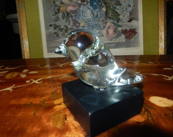 CRYSTAL BIRD PAPERWEIGHT