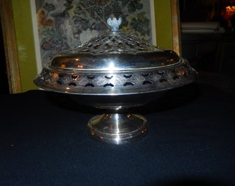 Silver Plated Bun Serving Dish