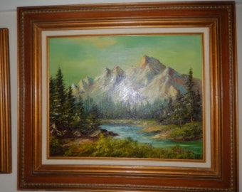 "Original Oil Painting Signed ""Cantrell""."