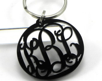 FREE SHIPPING Customer Appreciation Black Monogram Keychain (Limited Quantities)