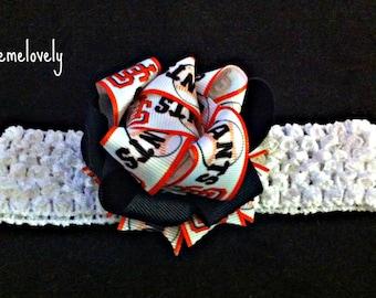San Francisco Giants Baby Girl Bow Crocheted Headband