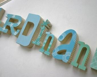Wood letters / wooden alphabet letters
