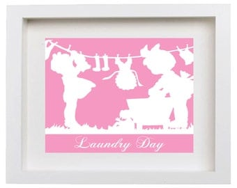 Popular items for laundry room art on Etsy