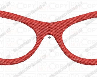 Girl Glasses 2 Full Stitch Embroidery Design in 3x3 4x4 and 5x7 Sizes