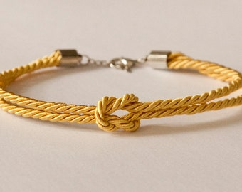 SALE!! silk knot bracelet - bridesmaid / friend gift (gold)