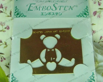 bear brass stencial for Paper Crafting Brass embossing stencil