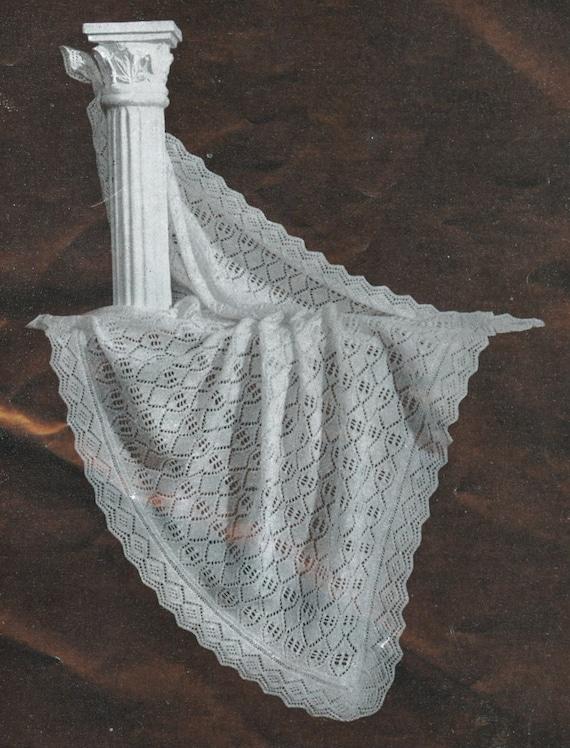 Knitting Pattern For Shetland Lace Shawl : Heirloom Shawl vintage baby shetland lace shawl knitting