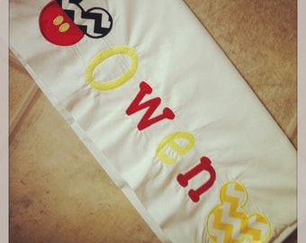 Personalized Mickey Mouse Pillowcase