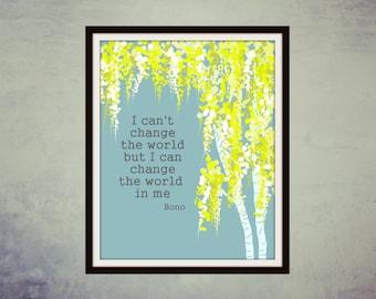 Printable Art, Quote Art, Digital Art, Quote Print, Wall decor, inspirational quote, Printable Quote Art, Wall art, Home decor, : Bono