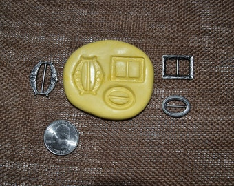 Buckes Silicone Molds set of 3