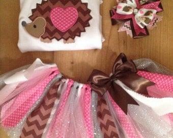 Valentine's Day Hedgehog Tutu Outfit