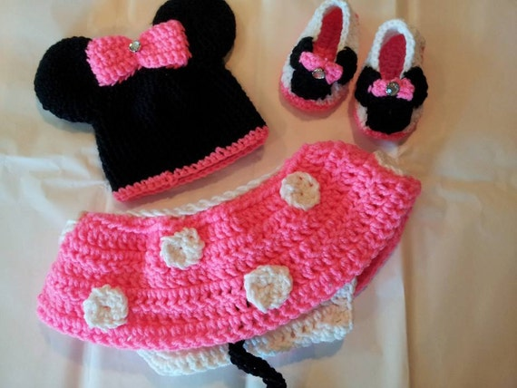 Crochet Pattern For Baby Mermaid Costume : Crochet Baby Minnie Mouse Outfit. by HavocMayhemCreations ...