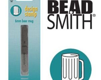 BEER MUG Metal Stamp, Beer Stein Design Stamp 6 mm Steel Punch Beadsmith