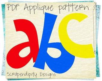 Alphabet applique etsy alphabet applique pattern letters applique template kids girls name shirt lettering quilt pattern pronofoot35fo Choice Image