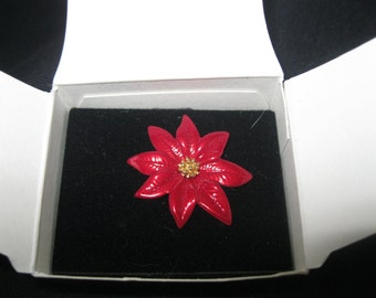 "Avon ""RED POINSETTIA"" Pin"