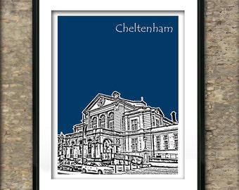 Cheltenham Art Print Poster A4 Size Gloucestershire UK England