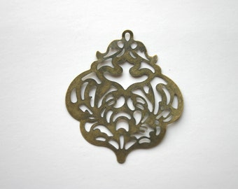 """8 - Filigree Lightweight Metal Earrings Antique Bronze Necklace Paintable Component Vintage Jewelry -  """"Reminisce"""" style"""