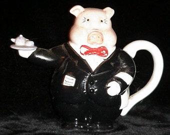 Teapot - Pig Waiter