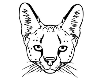 """Serval Face 6"""" Decal"""