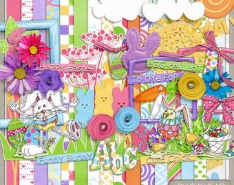 Funny Bunny Easter Digital Scrapbook Kit