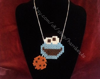 SALE Sesame Street's Cookie Monster Necklace with Cookie!