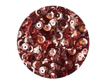 5mm Cup Sequins Pink Metallic