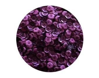 6mm Cup Sequins Deep Purple Silk Frost Matte