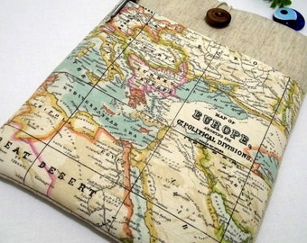 """Free Shipping/ World Map- kindle fire 8 case, Kindle Fire HD 6"""", Kindle Fire HD 8.9"""" , Samsung G Tab 7"""", Kobo Arc, Kobo Arc 7HD- Map fabric"""