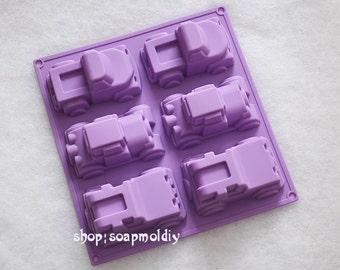 6-cavity Car Mold Cake Mold Mould Soap Mold Silicone Mold Flexible Mold