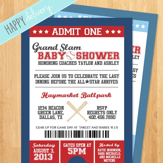 printable baseball baby shower invitation it 39 s a by happydelivery