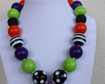 Halloween Bubble Gum Bead Necklace-